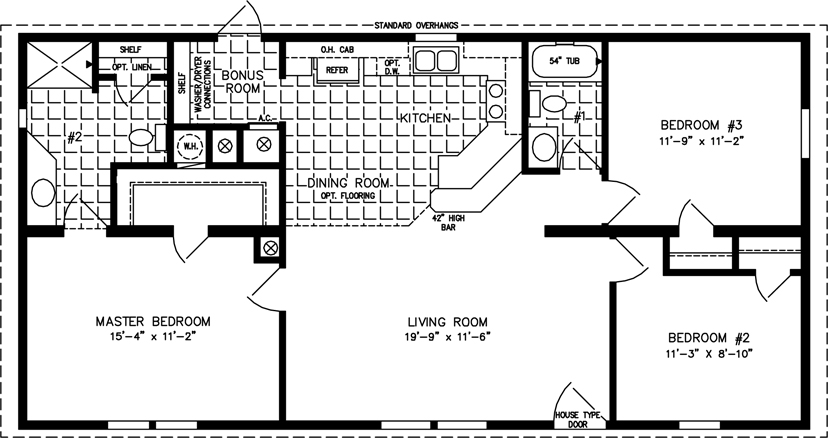 1000 To 1199 Sq Ft Manufactured Home Floor Plans Jacobsen Homes