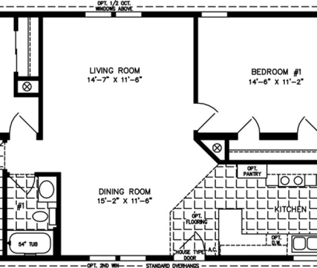 Manufactured Home Floor Plan The T N R  E  A Model Tnr A  Bedrooms