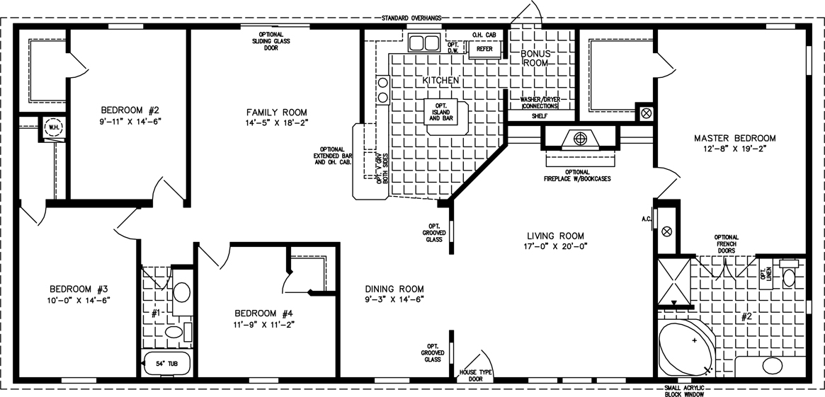 2000 Sq Ft  Up Manufactured Home Floor Plan  Jacobsen Homes