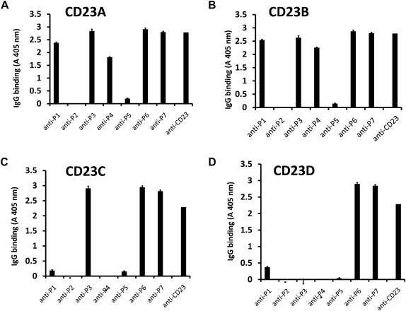 Critical and direct involvement of the CD23 stalk region
