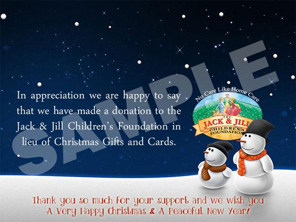 Send A Jack Amp Jill Christmas E Card In Lieu Of Gifts