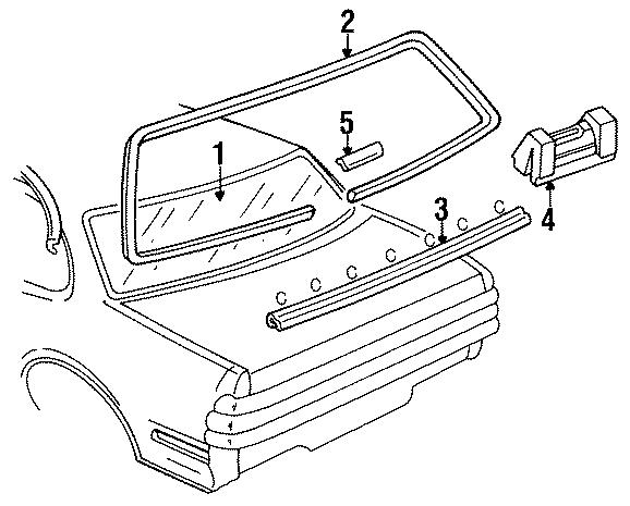 Buick Century Bezel. Escutcheo. Reveal molding clip