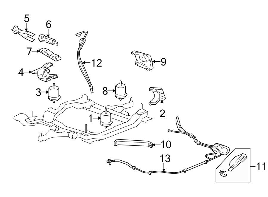 Buick Enclave Automatic Transmission Mount Bracket