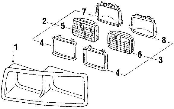 Buick Skylark Headlight assembly mount ring. Ring