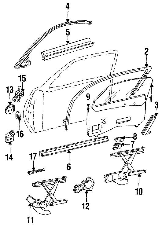 Chevrolet Cavalier Switch. JAMB. DOOR. Lamp. Rear, GLASS