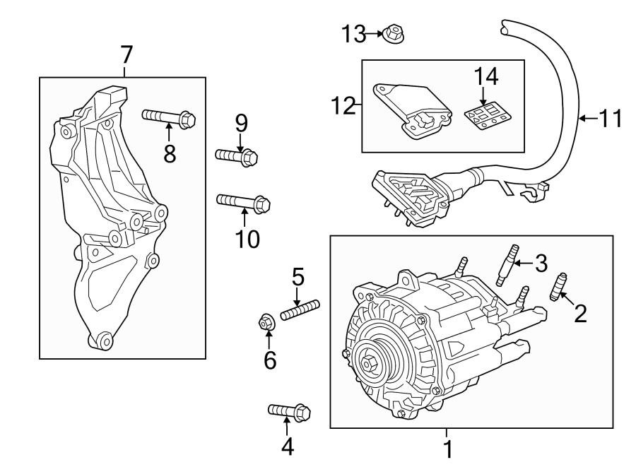 Chevrolet Classic Bolt. BRACKET. Alternator. (Front, Rear