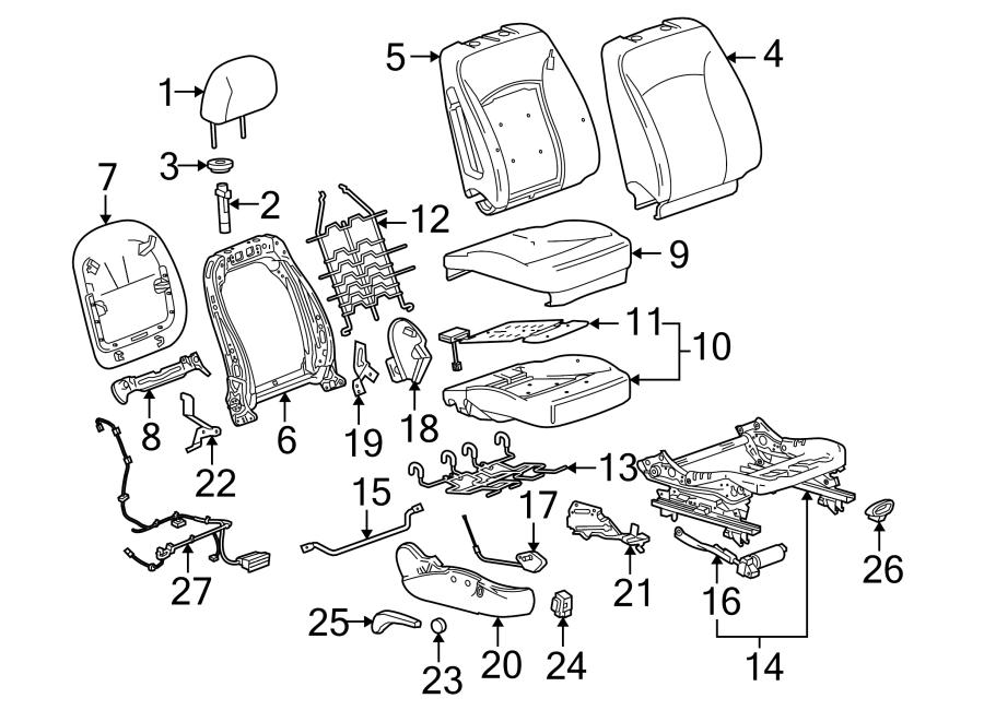 Buick LaCrosse Seat Cover. W/O 8-WAY POWER, titanium
