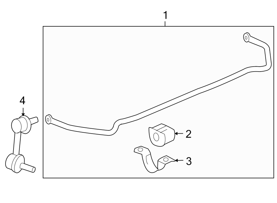 Buick Regal Suspension Stabilizer Bar (Rear). FWD, w/GS