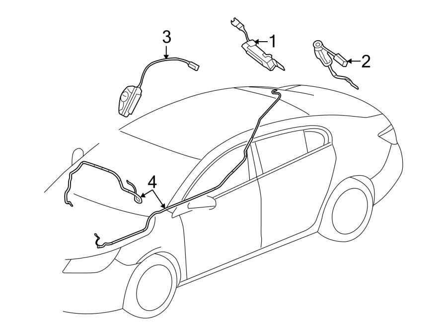 Buick LaCrosse Antenna Amplifier. W/O DIGITAL AUDIO. Right