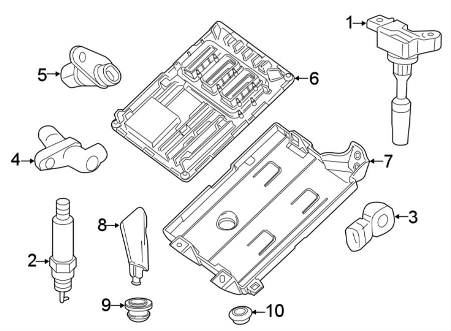 Buick LaCrosse Engine Control Module Clip. 3.6 LITER