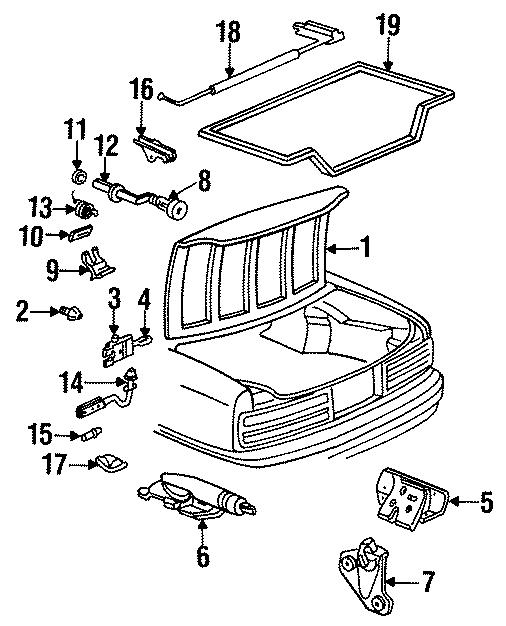 Buick Roadmaster Trunk Lock Actuator Motor. LID