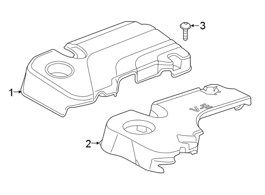 Buick Encore Engine Cover Insulator (Lower). 1.4 LITER. 1