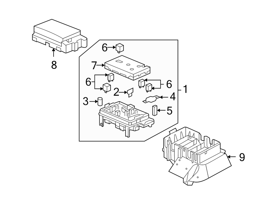 Buick Rainier Fuse Box. FUSE BLOCK-ENGINE COMPARTMENT, 4.2