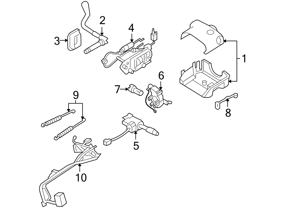 Buick Terraza Harness assembly, steering column wiring