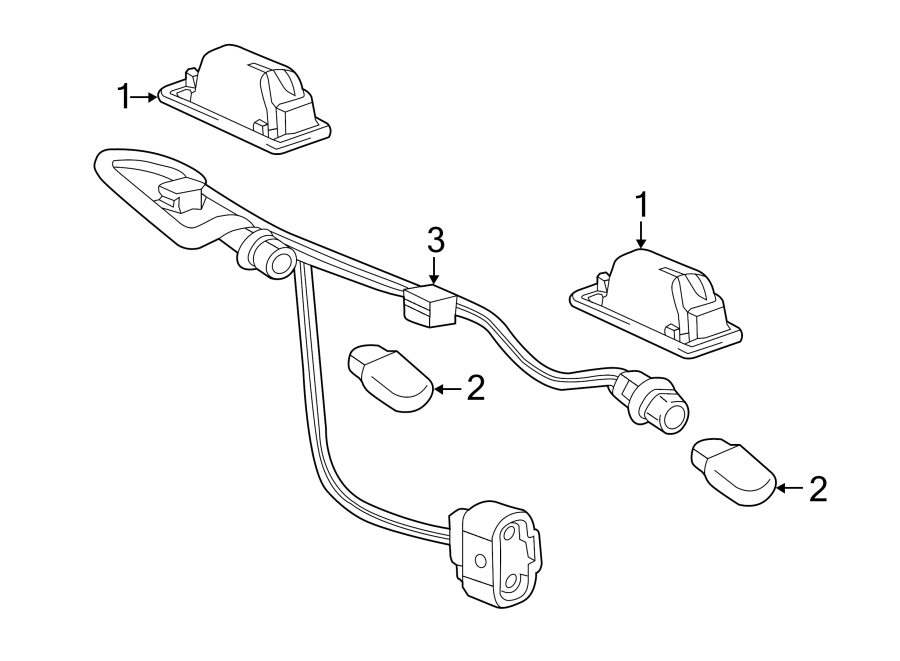 Buick Verano Parking Aid System Wiring Harness. W/o park