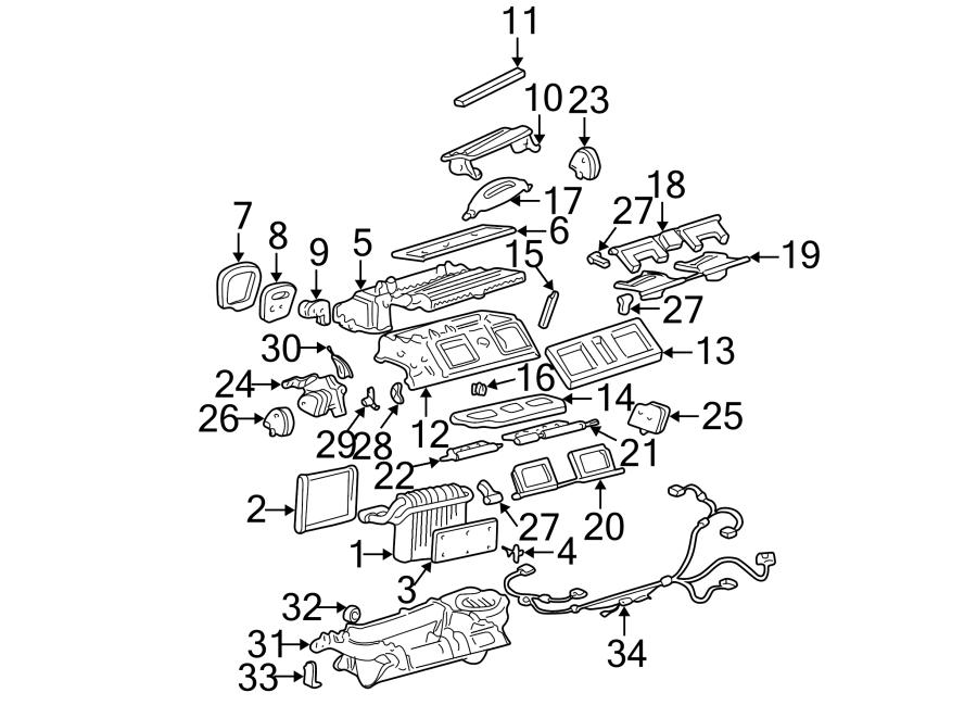 Cadillac Deville Hvac air adjustment control motor. Blend