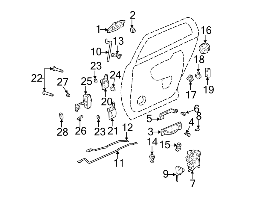 Cadillac Deville Door Latch Assembly. 1st design. All