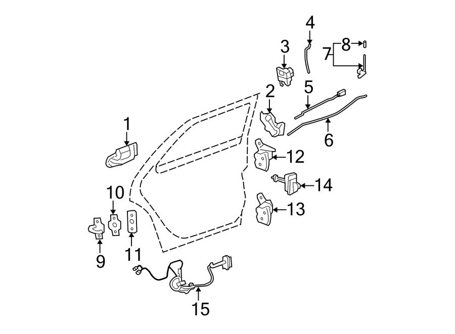 Chevrolet Trailblazer EXT Actuator. Lock. Door. Motor