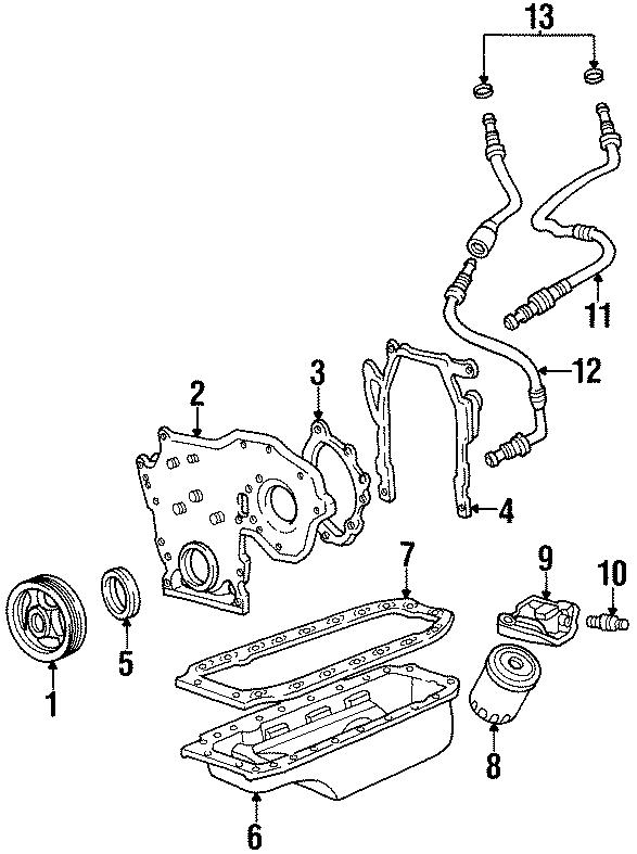 Cadillac Deville Engine Oil Cooler Hose Assembly. 4.9