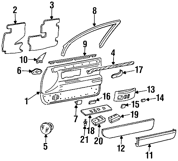 Cadillac Deville Mirror switch. Switch as. 1994-96