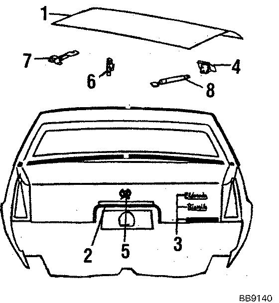 Cadillac Eldorado Nameplate. Eldorado. Eldorado, chrome