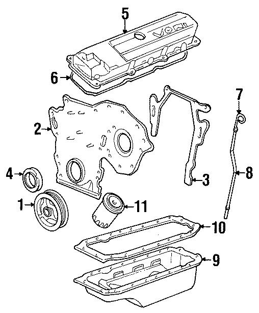 Cadillac Deville Engine Valve Cover Gasket. 4.9 LITER