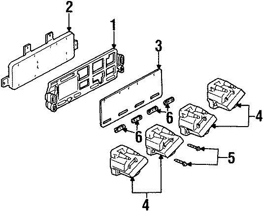 Cadillac Eldorado Ignition Control Module Bracket. 4.6