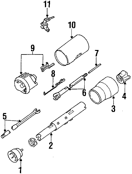 Buick Riviera Ignition Lock Assembly. 1986-89. Buick