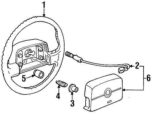 Cadillac Seville Horn Button Connector. 1992-95. 1993-94