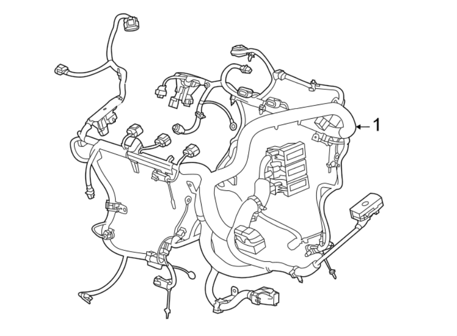 Cadillac ATS Engine Wiring Harness. Coupe, 2.0 liter turbo