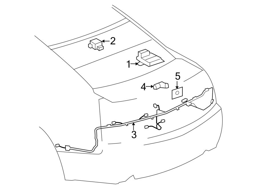 GMC Savana 3500 Parking Aid Control Module (Rear