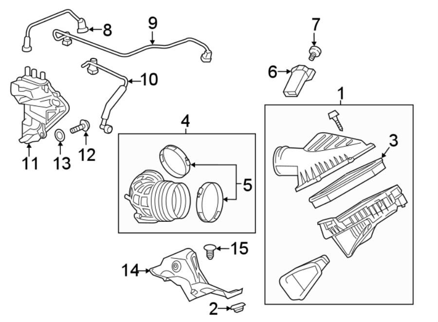 Chevrolet Camaro Engine Crankcase Vent Valve. 2016-19