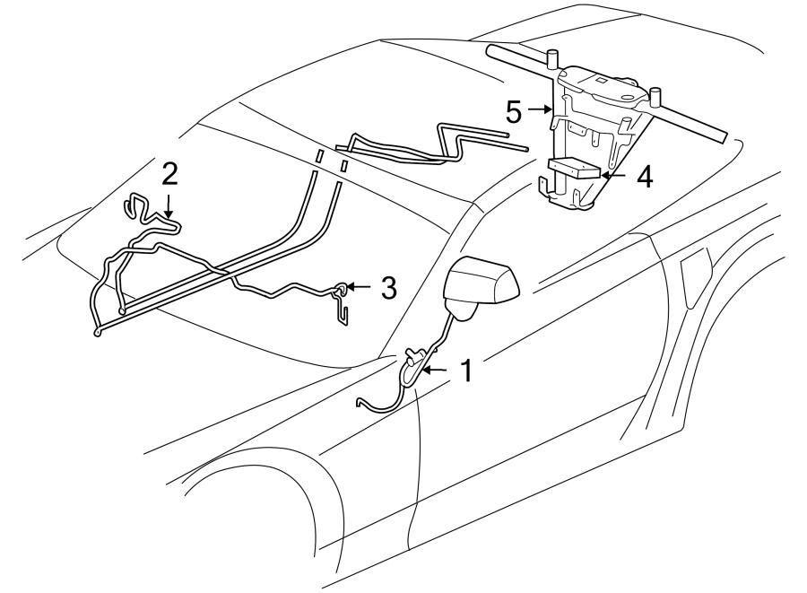 Cadillac XLR Antenna Cable. W/DIGITAL AUDIO, 2006-09. XLR