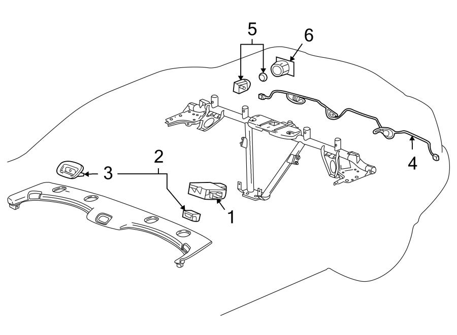 Cadillac XLR Parking Aid System Wiring Harness (Rear