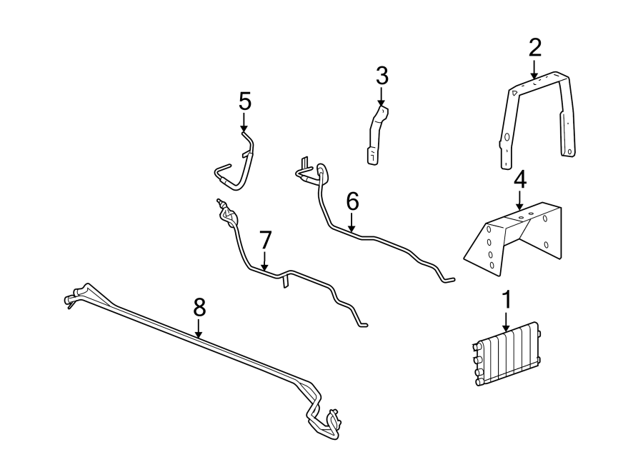 Cadillac XLR Automatic Transmission Oil Cooler Hose (Upper