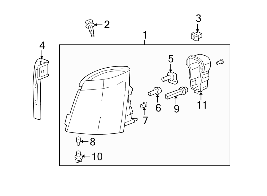 Chevrolet Silverado 3500 HD Headlight Bulb (Lower