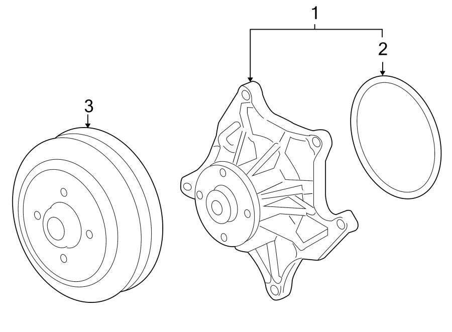 Cadillac SRX Seal. Water. Pump. Ring. Gasket. 4.4 liter. 4