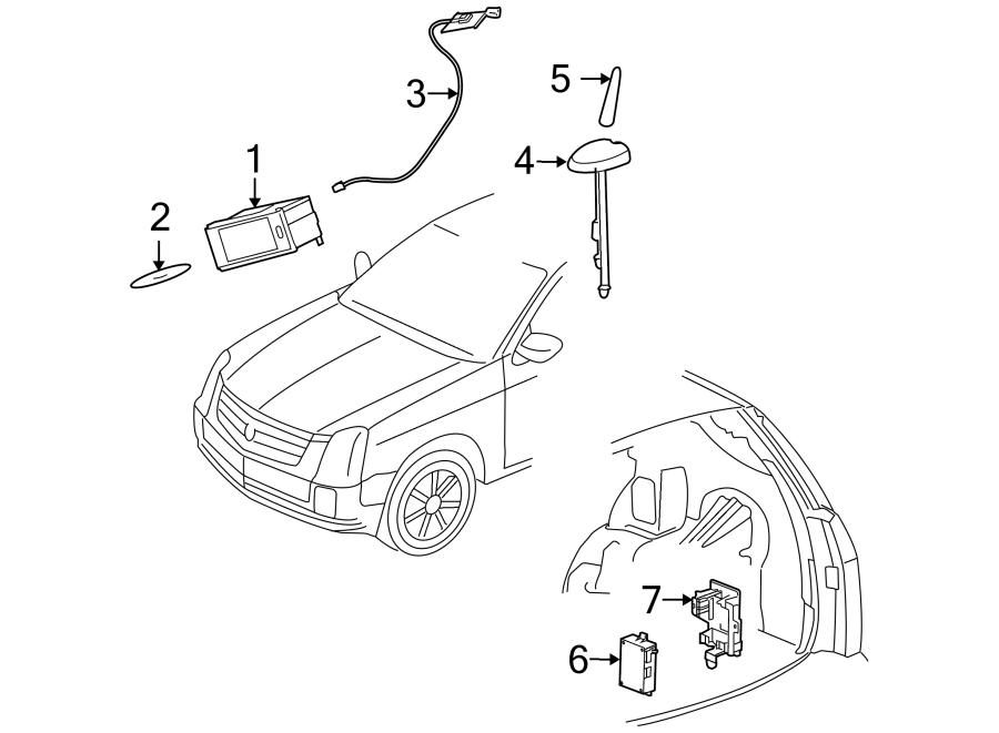Cadillac SRX Gps antenna assembly. 2006-09, navigation