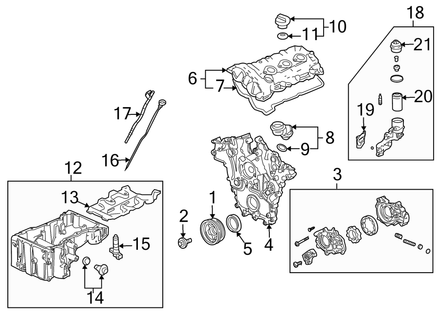 Cadillac SRX Engine Crankshaft Pulley. LITER, TWIN, Belt