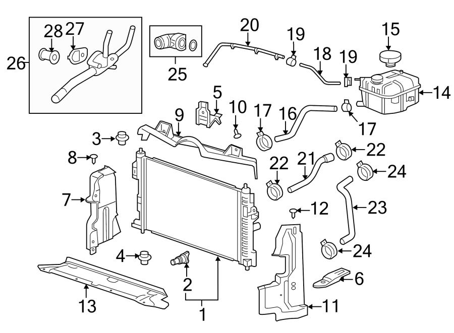 Cadillac SRX Engine Coolant Thermostat Kit. 3.6 LITER