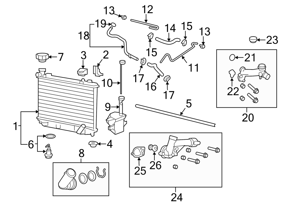 Chevrolet Caprice Engine Coolant Thermostat Kit. 3.6 LITER