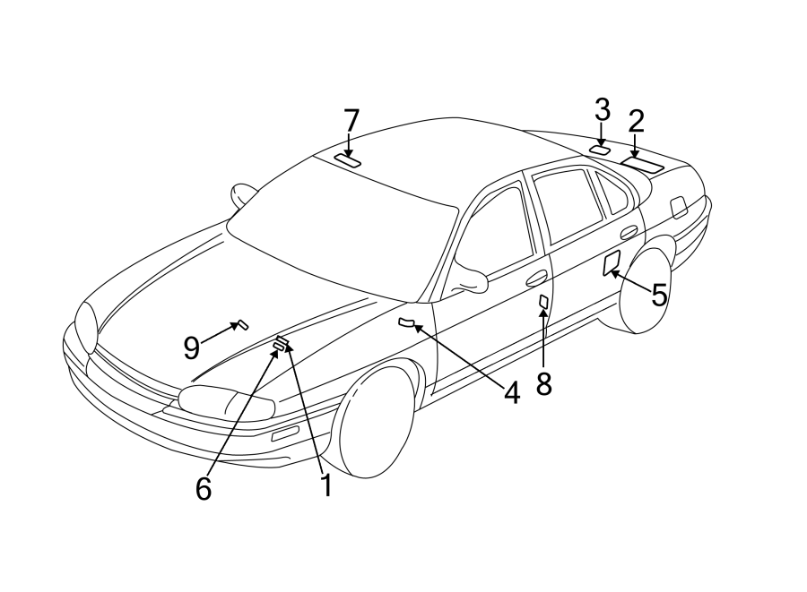 Chevrolet Impala Emission Label. 3.4 liter, Federal