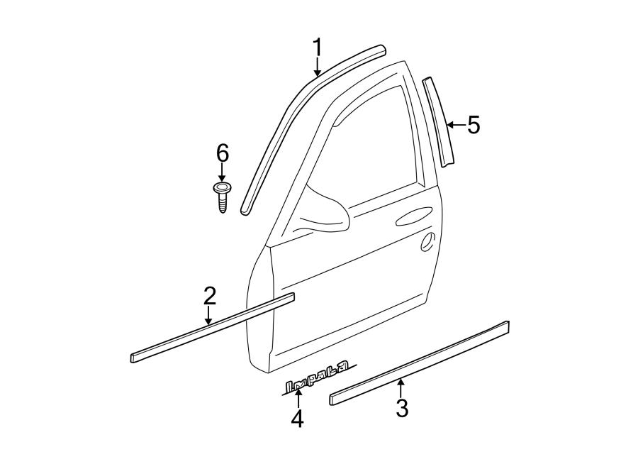 Chevrolet Impala Door Emblem (Lower). IMPALA, cashmere