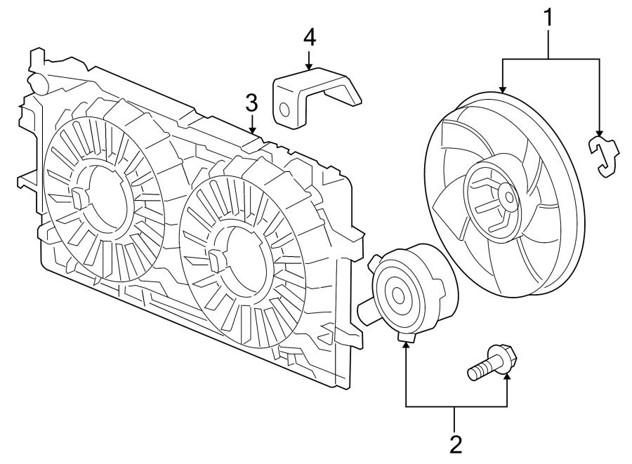 Chevrolet Impala Engine Cooling Fan Motor. Left, RADIATOR