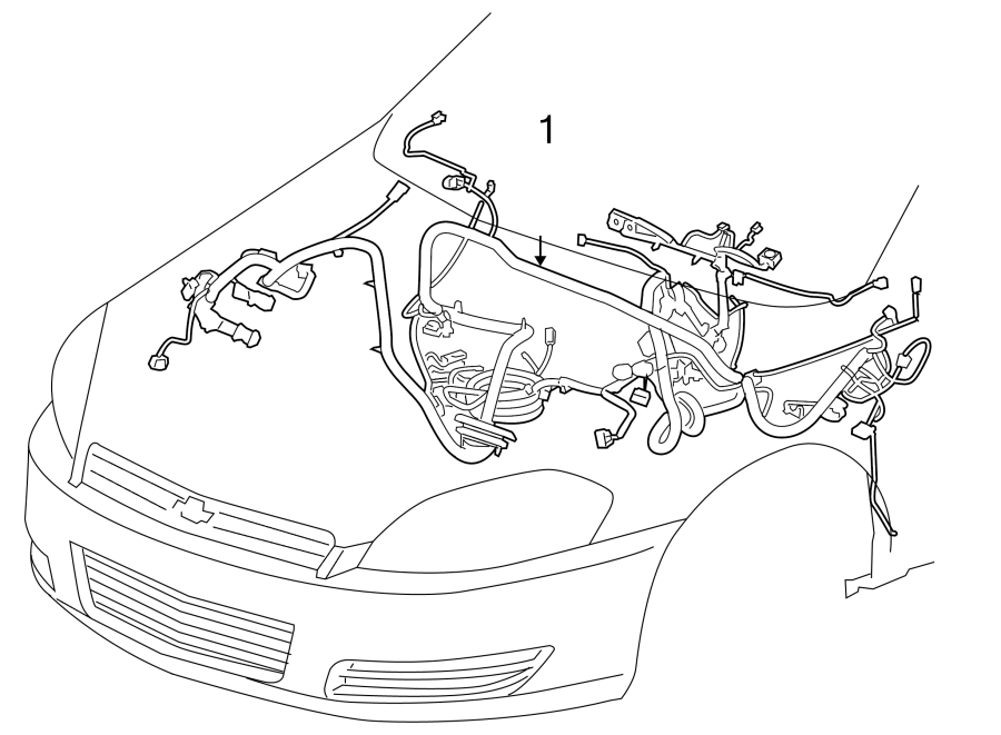 Chevrolet Impala Instrument Panel Wiring Harness
