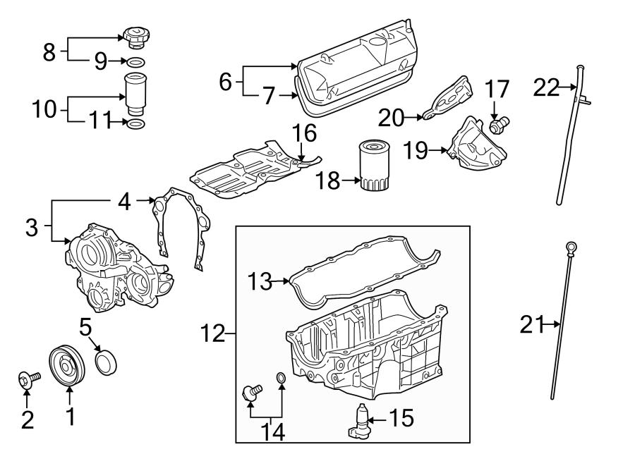 Chevrolet Impala Engine Timing Cover. LITER, Maxx, Sedan