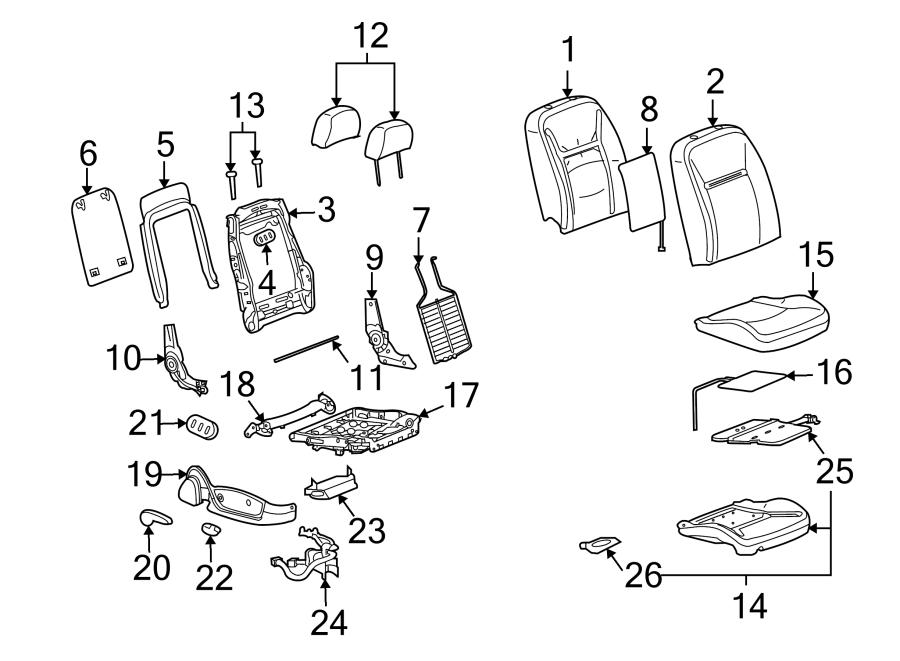 Chevrolet Impala Power Seat Wiring Harness. W/HEATED SEAT