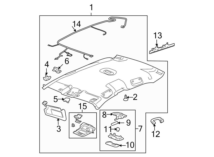 Chevrolet Impala Headliner. W/O SUNROOF, w/GPS w/garage