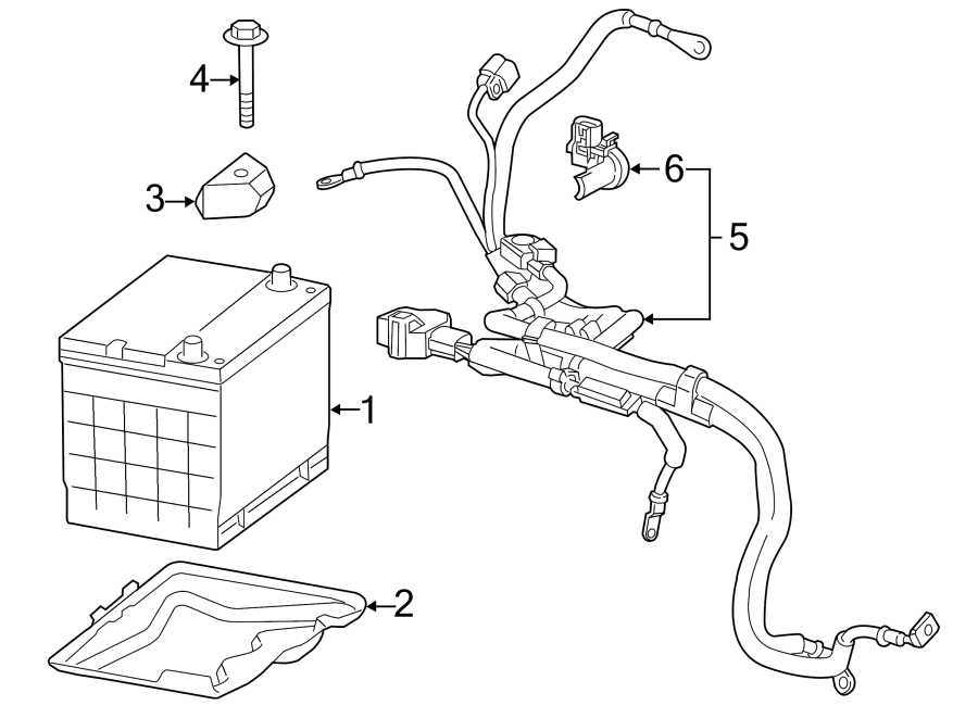 Chevrolet Impala Battery Cable Harness. Carlo, Labeled