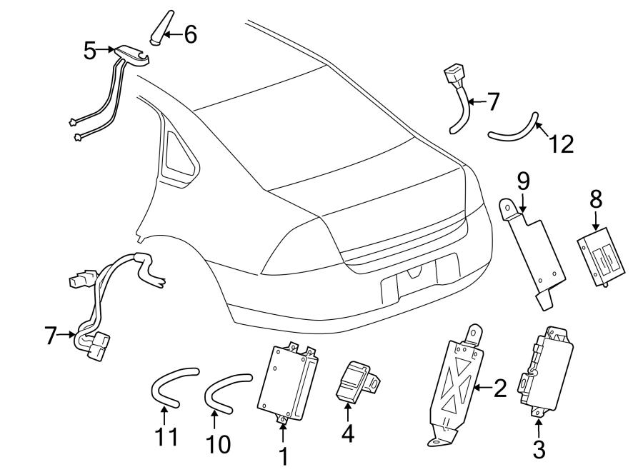 Chevrolet Impala Radio Antenna Base. ONSTAR W/DIGITAL